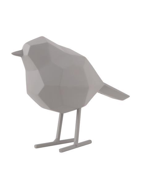 Decoratief object Bird, Kunststof, Grijs, 17 x 14 cm