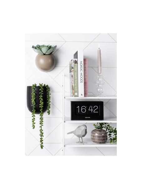 Deko-Objekt Bird, Kunststoff, Grau, 14 x 17 cm