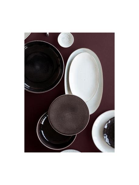 Handgemaakte schalen Nordic Coal Ø 22 cm van keramiek, 4 stuks, Keramiek, Bruin, Ø 22 x H 5 cm