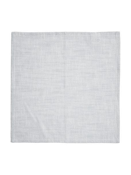 Serwetka z tkaniny Tonnika, 4 szt., Bawełna, Niebieskoszary, S 45 x D 45 cm