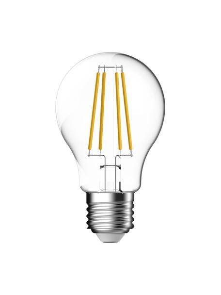 Bombillas regulables E27, 1055lm, blanco cálido, 3uds., Ampolla: vidrio, Casquillo: aluminio, Transparente, Ø 6 x Al 10 cm