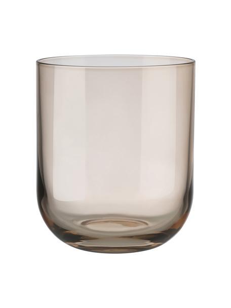 Bicchiere acqua marrone Fuum 4 pz, Vetro, Beige trasparente, Ø 8 x Alt. 9 cm