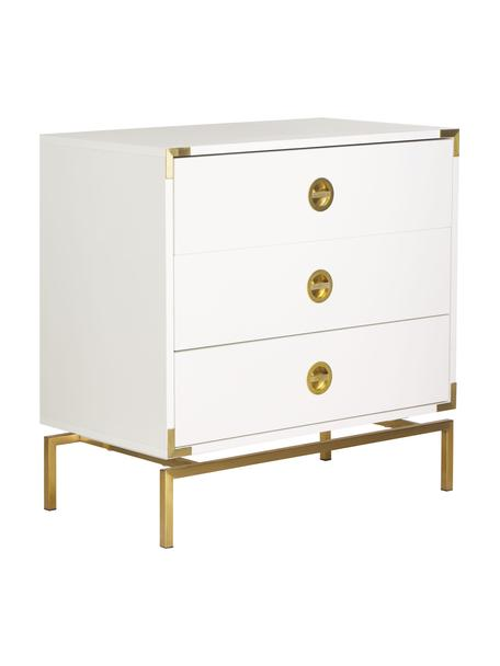 Ladekast Elegance in wit, Frame: melamine gecoat en gelakt, Wit, 80 x 80 cm