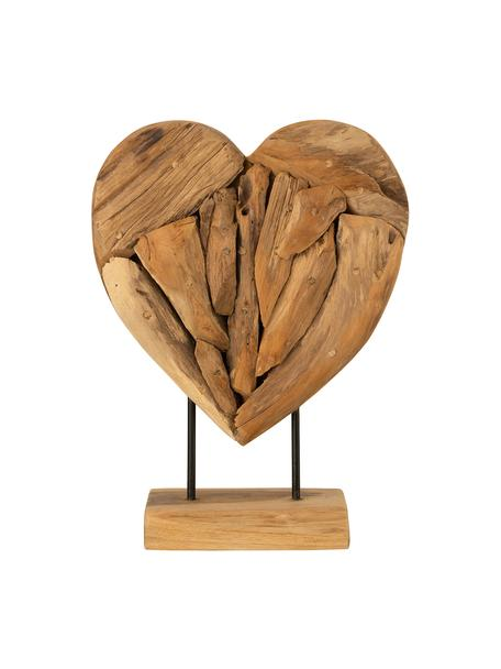 Deko-Objekt Heart, Holz, Braun, 30 x 40 cm