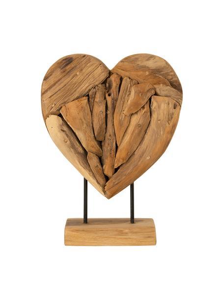Dekoracja Heart, Drewno naturalne, Brązowy, S 30 cm x W 40 cm