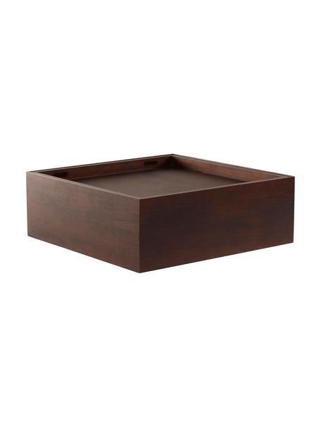 Mesa de centro Graham, con espacio de almacenamiento, Madera de mango recubierta, Marrón, An 80 x F 80 cm
