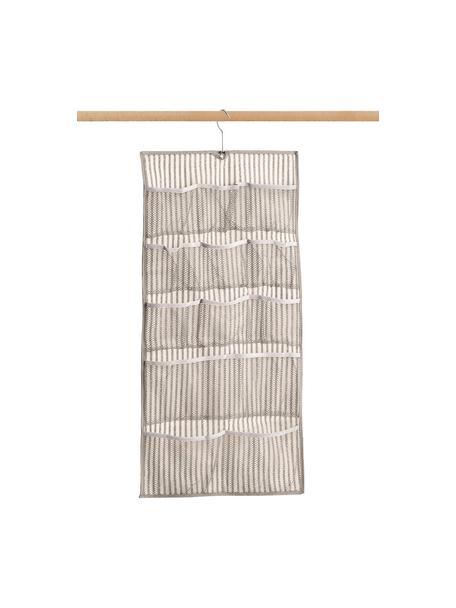 Hängender Schrank-Organizer Stripes mit 12 Fächern, 100% Polypropylen (Vlies), Beige, Cremeweiß, 40 x 80 cm