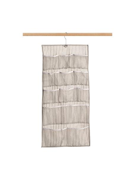 Organizer wiszący z 12 przegródkami Stripes, 100% polipropylen (polar), Beżowy, kremowobiały, S 40 x W 80 cm