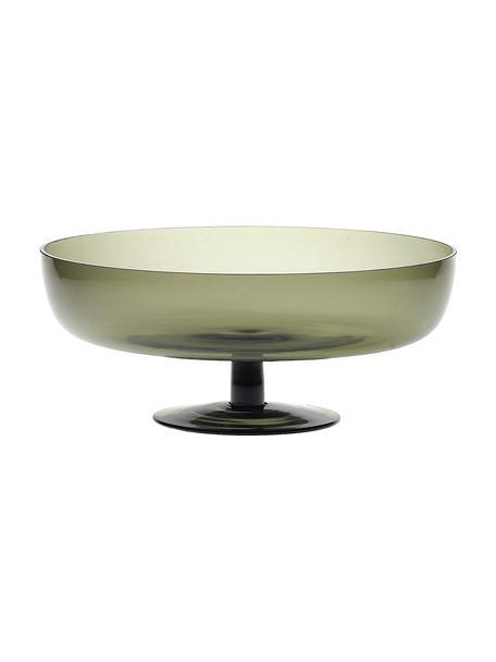 Mundgeblasene Glas-Servierschale Diseguale, Ø 25 cm, Glas, mundgeblasen, Grau, Ø 25 x H 11 cm
