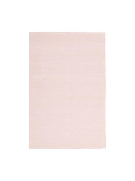 Alfombra artesanal de algodón Agneta, 100%algodón, Rosa, An 50 x L 80  cm(Tamaño XXS)