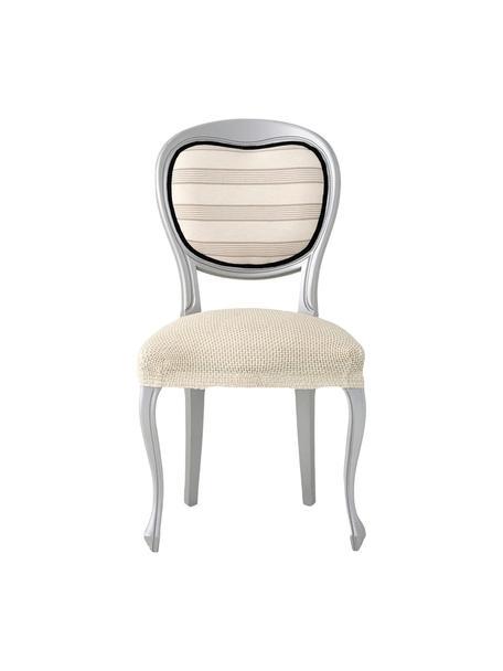 Fundas para silla Cora, 2 uds., 55%poliéster, 30%algodón, 15%elastomero, Beige, An 50 x F 55 cm