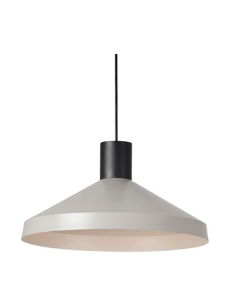 Scandi hanglamp Kombo in grijs, Lampenkap: gecoat metaal, Decoratie: gecoat metaal, Baldakijn: gecoat metaal, Grijs, zwart, Ø 40 x H 21 cm