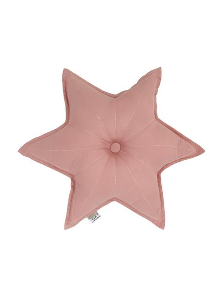 Poduszka z bawełny organicznej z wypełnieniem  Golden Stars, Tapicerka: bawełna organiczna, certy, Brudny różowy, S 45 x D 45 cm