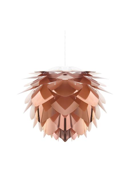 Kit lampada a sospensione Silvia, Paralume: polipropilene, Baldacchino: materiale sintetico, Ramato, bianco, Ø 32 x Alt. 25 cm
