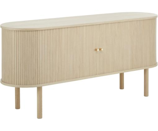 Holz-Sideboard Calary mit geriffelter Front
