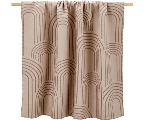 Wendebaumwolldecke Deco mit abstrakten Regenbogenmotiven und unterschiedlicher Vorder/Rückseite