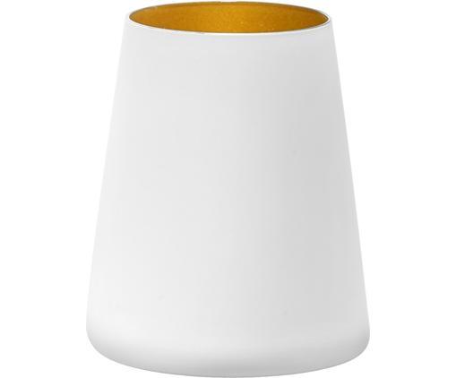 Kegelförmige Kristall-Cocktailgläser Power in Weiß/Gold, 6 Stück