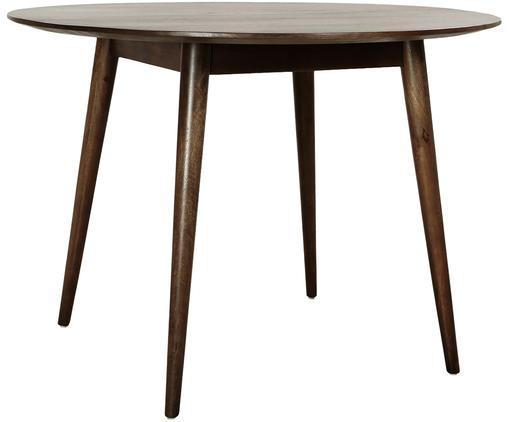 Runder Esstisch Oscar mit Mangoholz, Ø 106 cm