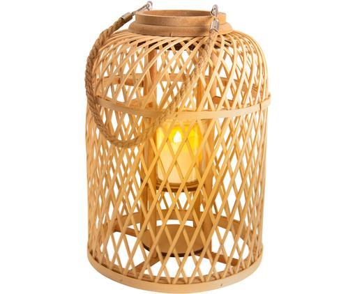 Solar LED-Kerze Korab mit Bambuskorb
