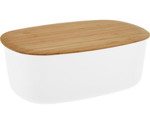 Designer Brotkasten Box-It in Weiß mit Schneidebrett als Deckel
