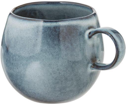 Handgemachte Steingut-Tasse Sandrine in Blautönen
