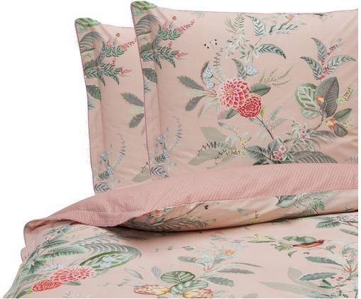 Baumwollperkal-Wendebettwäsche Floris mit dekorativen Schleifen, floral/gemustert