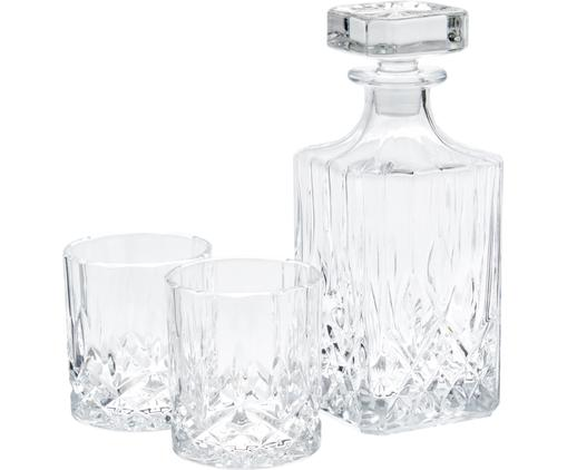 Whisky-Set George mit Kristallrelief, 3-tlg.