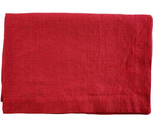Leinen-Tischdecke Basic in Rot