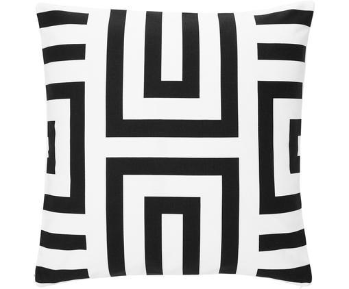 Kissenhülle Bram  in Schwarz/Weiß mit grafischem Muster