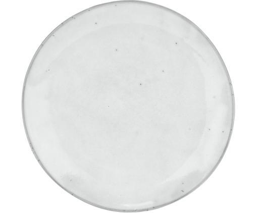 Handgemachte Frühstücksteller Nordic Sand aus Steingut, 4 Stück