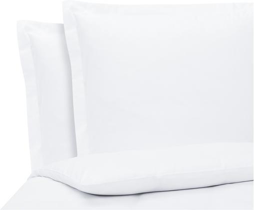 Satin-Bettwäsche Premium aus Bio-Baumwolle in Weiß mit Stehsaum