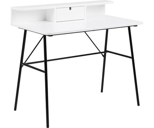 Schreibtisch Pascal in Weiß mit Schublade