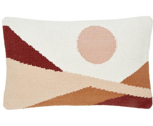 Handgewebte Kissenhülle Beta mit abstraktem Muster