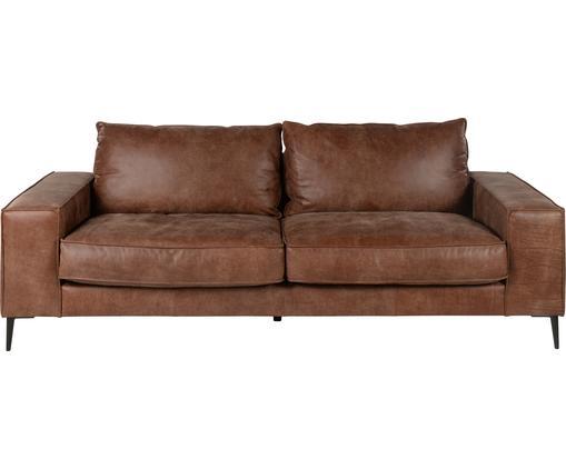 Leder-Sofa Brett (3-Sitzer) in Braun im Industrial Design