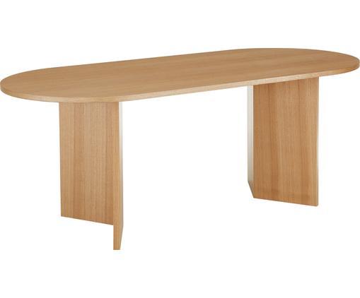Ovaler Esstisch Toni mit Eschenholzfurnier