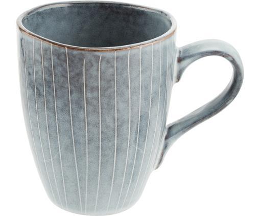 Handgemachte Tassen Nordic Sea aus Steingut in verschiedenen Größen, 6 Stück