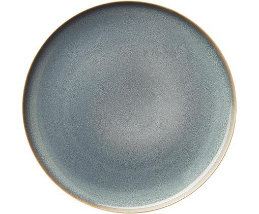 Frühstücksteller Saisons aus Steingut in Blau, 6 Stück