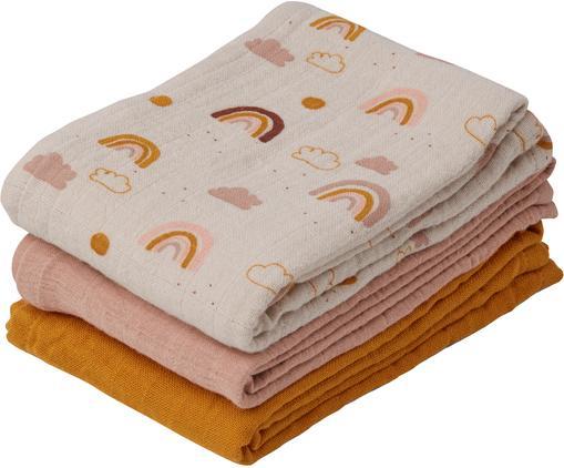 Wickeltücher-Set Line aus Bio-Baumwolle, 3-tlg.