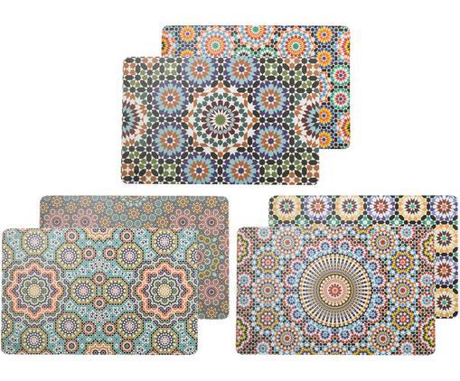 Beidseitig bedruckte Kunststoff Tischsets Marrakesch Doubleface, 6er Set