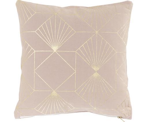 Kissen Scandi mit goldenem Muster, mit Inlett