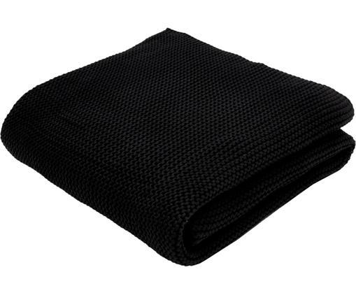 Strickdecke Adalyn aus Bio-Baumwolle in Schwarz