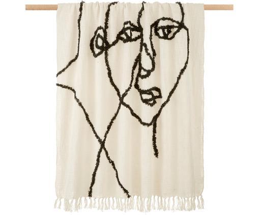 Baumwolldecke Face mit getuftetem abstraktem Muster