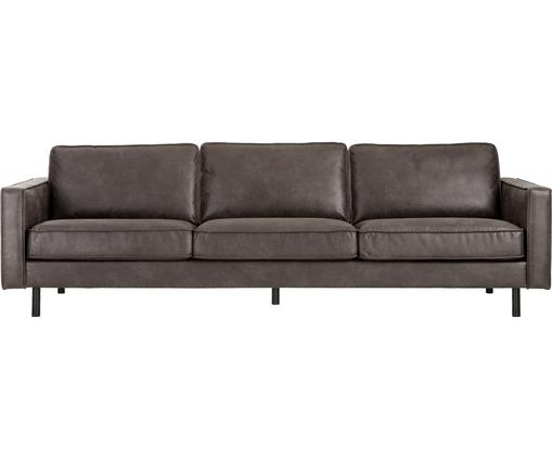 Sofa Hunter (4-Sitzer) in Braungrau aus recyceltem Leder