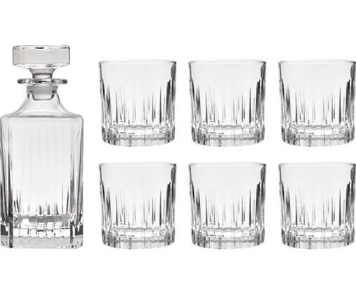 Kristall-Whisky-Set Timeless mit Rillenrelief, 7-tlg.