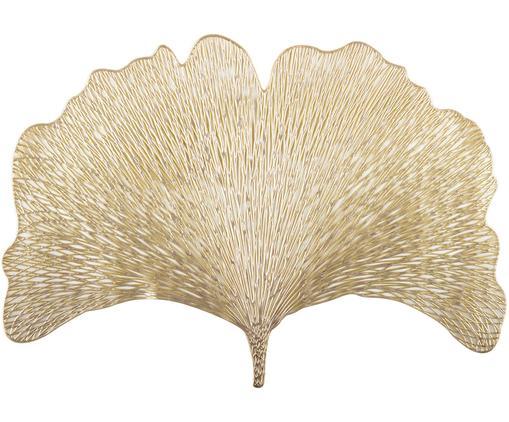 Goldene Kunststoff-Tischsets Ginkgo in Blattform, 2 Stück
