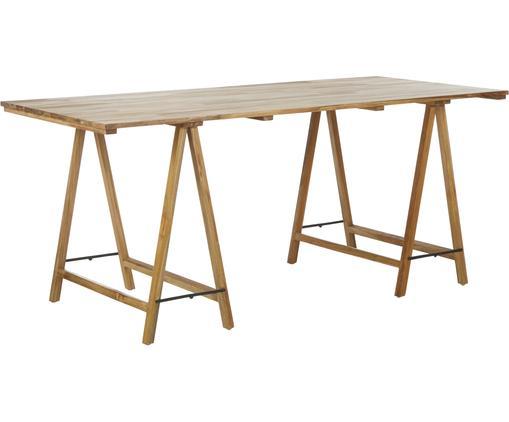 Massivholz Tisch Trestle im Skandi Design
