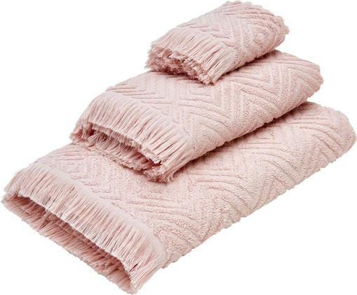 Handtuch-Set Jacqui mit Hoch-Tief-Muster, 3-tlg.