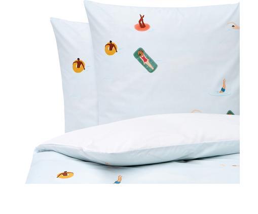 Baumwollperkal-Bettwäsche Swim mit sommerlichen Motiven