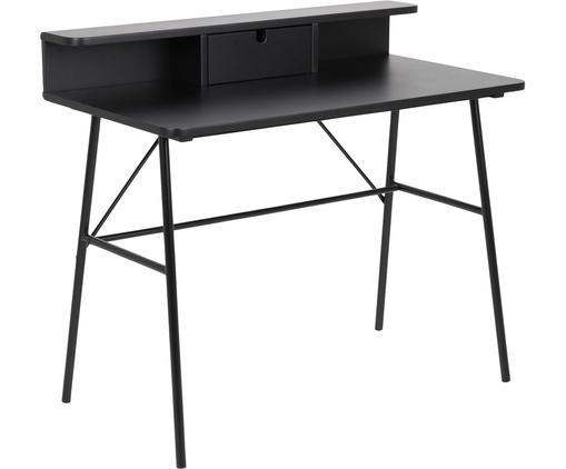 Schreibtisch Pascal in Schwarz mit Schublade