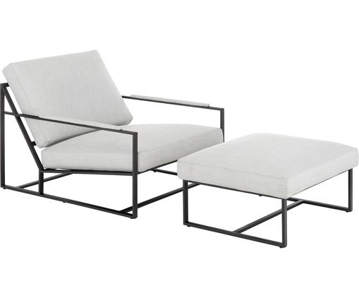 Lounge-Set Andy, 2-tlg. mit Metall-Gestell